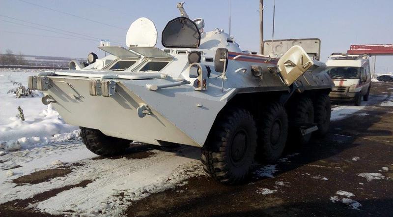 Оренбургские cотрудники экстренных служб получили впомощь два БТР-80