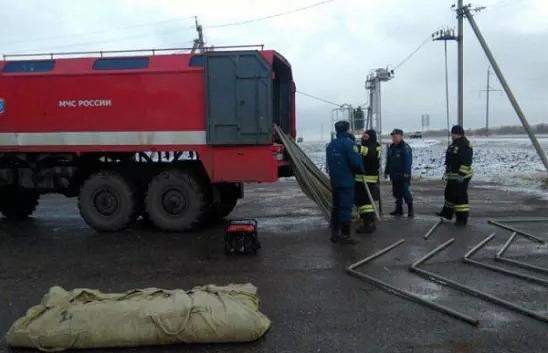Натрассе М-5 Урал вОренбургской области развернули мобильные пункты обогрева