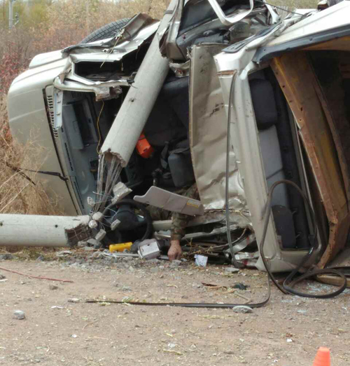 Шофёр «Патриота» умер, сбив наавтомобиле столб