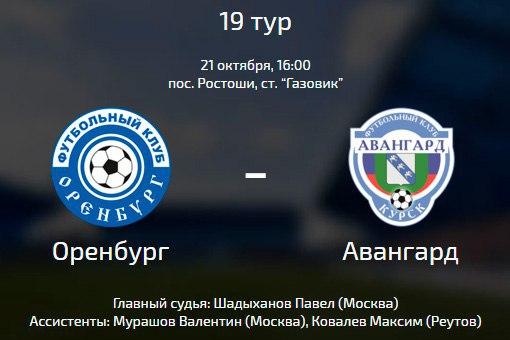 «Авангард» (Курск) разошелся миром сФК «Оренбург»