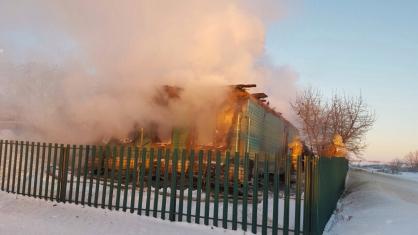 Напожаре вКурманаевском районе обнаружили тело 90-летней женщины