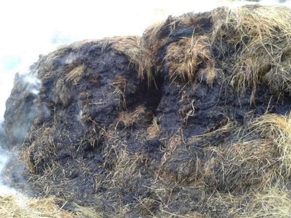 Нетрезвый селянин спалил стог сена, чтобы согреться