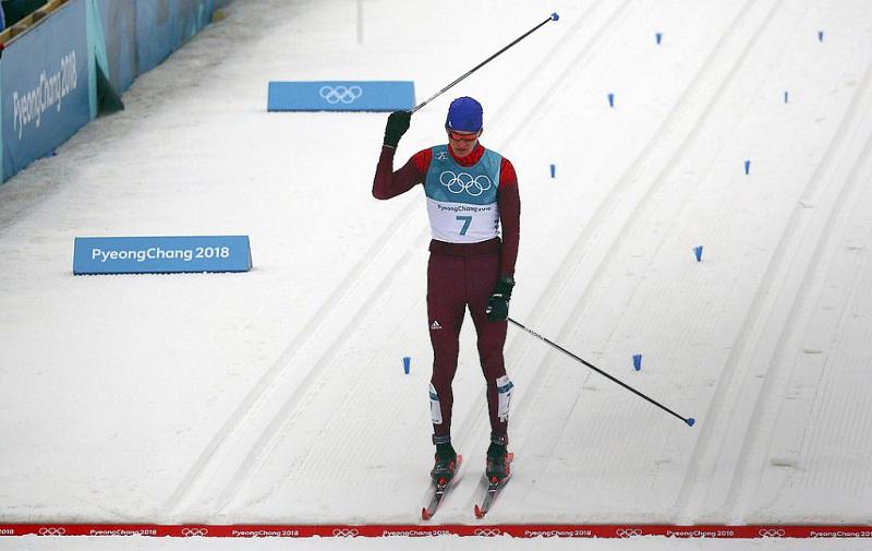 Тюменец Александр Большунов взял «серебро» вмарафонской гонке наОлимпиаде