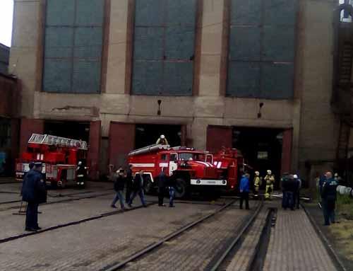 ВОренбурге горел цех локомотиворемонтного завода